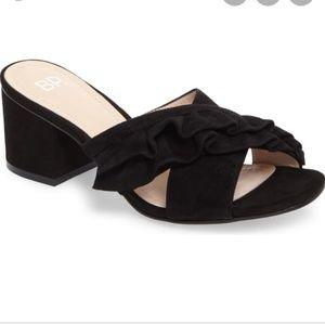 BP. Suede Shari Ruffle sandals s 8/8.5